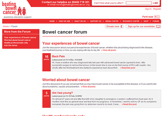 An introduction to the issue of bowel cancer